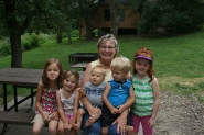 Grandma and the cousins at Mahoney State Park