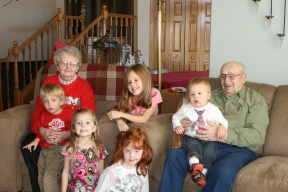 Great Granparents with their Great Grandchildren