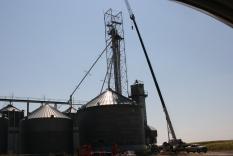 Crane at Bins