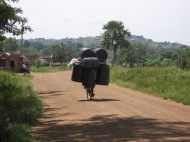 Bicycle hauling water