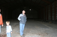 This is not a picture of my dad gazing at the ceiling but of the vastness of the dirty building.