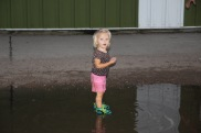 Puddle jumping - because it was more fun than sitting at a concert