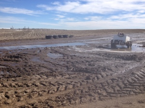 melting snow mud