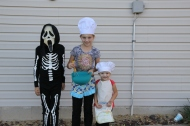 Crazy scary guy and 2 cute bakers
