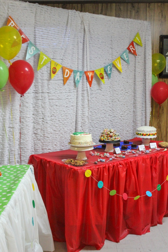 Best day ever cake table