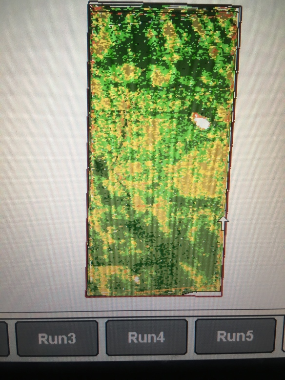Harvested corn field map
